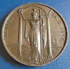 1937 Medallion: King George VI Coronation, 44mm bronze - very high grade