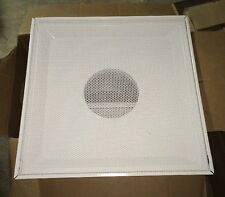 """Price Diffuser Flush Face 8"""" Round 24 x 24 White, Steel Perforated Return"""