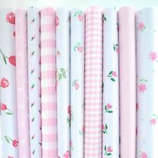 Remnants - 10 Fat Quarters Ditsy Pink Floral Bundle Poly Cotton Fabric *