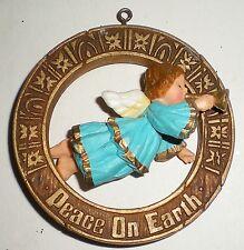 1977 Hallmark Christmas Ornament -Angel Peace On Earth - Good Will Toward Men Ec