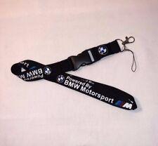 BMW Motorsport Car Lanyard ID Badge Holder Breakaway Clip Keychain New