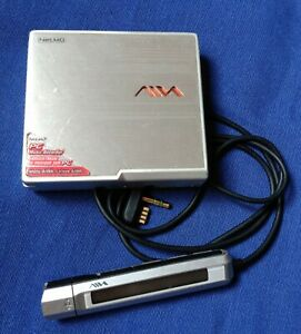 AIWA NET MD  AM-NX1 SILVER PORTABLE MINI DISC RECORDER