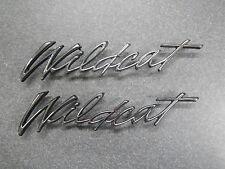 "1970 Buick Wildcat Fender Script Emblem Front 70 ""Wildcat"" NEW Pair"