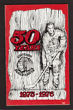 Chicago Blackhawks 1975-75 Hockey Yearbook NHL Guide Tony Esposito Stan Mikita