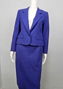 Pendleton Womens Skirt Suit 100% Pure Virgin Wool Lavender Sz 6 Made USA