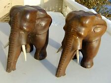 Pair of Front End Tripod Elephant Bookends