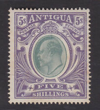 Antigua. SG 40, 5/- grey-green & violet. Mounted mint.