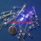 10-1000pcs 2PIN F5mm 5mm Round Ultra Violet UV LED 3.2-3.6V 20mA 395nm - 400nm
