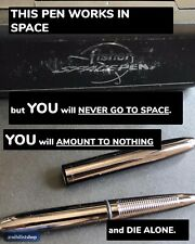You're a Failure. A Loser. So Be Stoic: Buy This DARK CHROME FISHER SPACE PEN