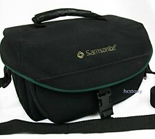 SAMSONITE Sm-Med Padded Film-Digital SLR Camera Bag~BLACK w/GREEN~SHOULDER Strap