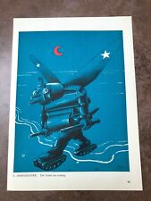 More details for original 1944 ww2 double sided print ! a. hoffmeister - the yanks are coming
