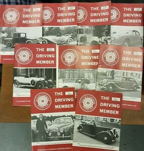 The Driving Member, Daimler & Lanchester Club Mag.9 issues Volume 18-19, 1981-82
