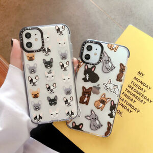 Phone Case For iPhone 11 Pro Max XR 8 7 Shockproof Cute Dogs Cartoon Skin Cover