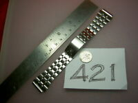"""RARE Vtg WITTNAUER Japanese made Stainless Steel Men's Watch BAND 19 mm lug, 6""""L"""