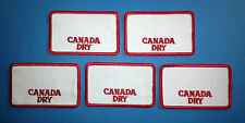 5 Lot Rare Vintage 1970's Canada Dry Employee Work Shirt Hat Jacket Patches A