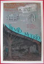 Lizette Lugo Poster Cartel Serigraph Tiempo Muerto Teatro Puerto Rico 87 Signed