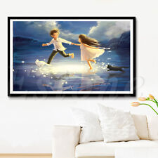 DIY 5D Diamond Embroidery Boy And Girl Home Cross Decor Stitch Painting Kit