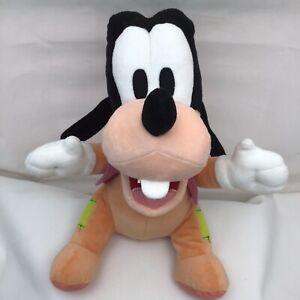"""Goofy Patches Orange Purple Vest Mickey Mouse Friends Disney Babies Plush 12"""""""