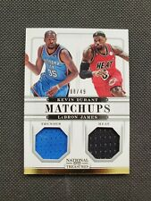 2012-13 LeBRON JAMES / KEVIN DURANT NATIONAL TREASURES MATCHUPS SP JERSEY #8/49!