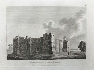 1783 Antique Print; Colchester Castle, Essex after Grose