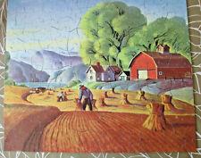 Vintage Guild Picture Puzzle Series H The Golden Harvest 304pc Complete, 1940's