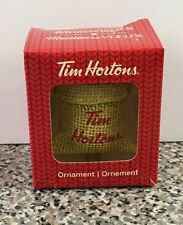Tim Hortons Christmas 2016 Ornament Hanging Coffee Bean Bag Sack Tim's In Box