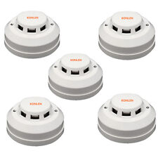 5pcs Wired Smoke Alarm Detector Sensor Photoelectric Output NO/NC for Fire Alarm