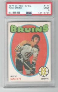1971 OPC O-Pee-Chee # 174 Rick Smith PSA 9 Boston Bruins