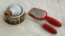 Joie Small Mortar and Pestle For Herbs and Spice with Grater and Whisk Miniature