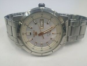 SEIKO 5 7S26-04E0 - MENS STAINLESS STEEL AUTOMATIC DAY DATE WATCH - BIDS FROM$1