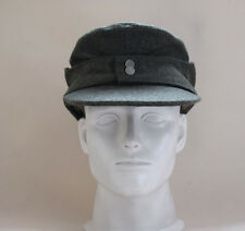 WWII German WH Elite EM M43 Panzer Wool Field Cap Hat Green 57 58 59 60cm