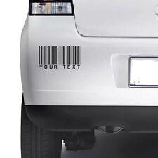 Custom CODICE A BARRE adesivo decalcomania in vinile personalizzati FUSTELLATO AUTO MURO anysmoothsurface