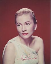 Joan Fontaine Hand Signed 8x10 Color Photo+Coa Stunning Hollywood Legend