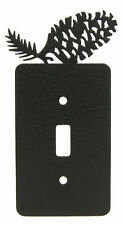 Pinecone black metal single light switch plate cover