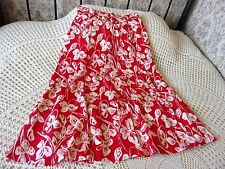 Summer skirt by JACQUES VERT Size 10 - 12 Red with cream floral Made in England