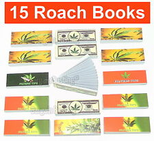 Great Quality & Value Roach Book Filter Tips Pack of 15 = 750 Roaches