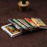 6Pcs 1:12 Dollhouse Miniatures Books Dollhouse Home DIY Decor