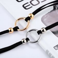 Black Gold or Silver O-ring day collar choker necklace sub Dom ddlg bdsm kitten