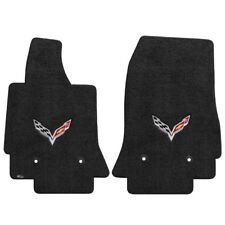 FOR Chevrolet CORVETTE 2014-2016 Front Floor Mats EBONY C7 LOGO 600118