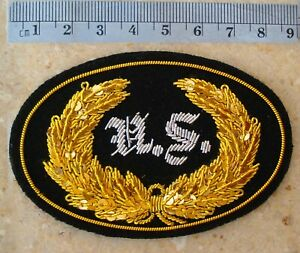 US Hat Insignia, Wire Bullion embroidered, New