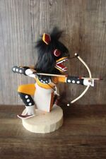 Native American Navajo Indian Handmade Orange Kneeling Wolf Hunter Kachina! S...