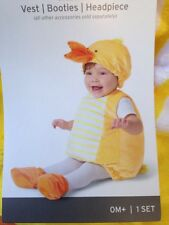 Ducky plush costume w/ vest booties & headpiece 06 month HALLOWEEN - NWT