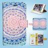 Mandala Art Flip Wallet Case Samsung Galaxy S3 S4 S5 S6 S7 S8 Edge Note Plus 048