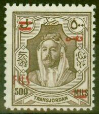 More details for transjordan 1952 king tala 500f on 500m brown sg332 v.f mnh