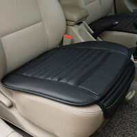 Black Auto Car Front Seats PU Leather Cover Cushion Bamboo Slip Bucket Soft Pad