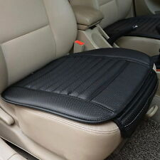 CAR VEHICLE FRONT SEAT COVERS BLACK PU LEATHER SINGLE BUCKET SET MAT CUSHION HOT