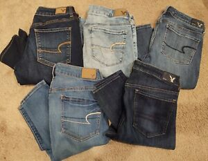 American Eagle Women's Size 8 Regular Jegging denim Lot Of 5