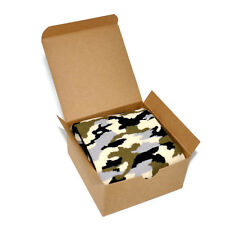 Mens Socks in Gift Box - Camouflage Pattern Casual Fun Novelty Stocking Stuffer