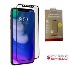 """Pellicola vetro ZAGG frontale GLASS CONTOUR pr iPhone X 10 5.8"""" Bordo Curvo Nero"""