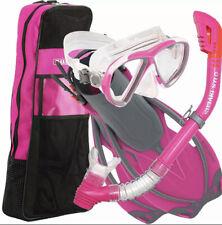 US Divers Premium Beli LX Lady Snorkeling Set PINK & GRAY Small/Medium NEW